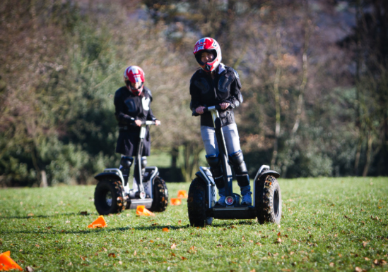 Picture of segwaying